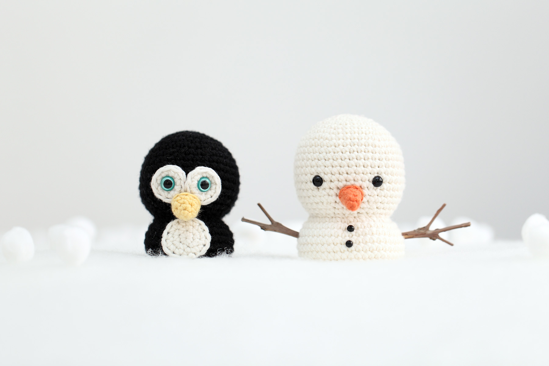 Mr Penguin and Snowman