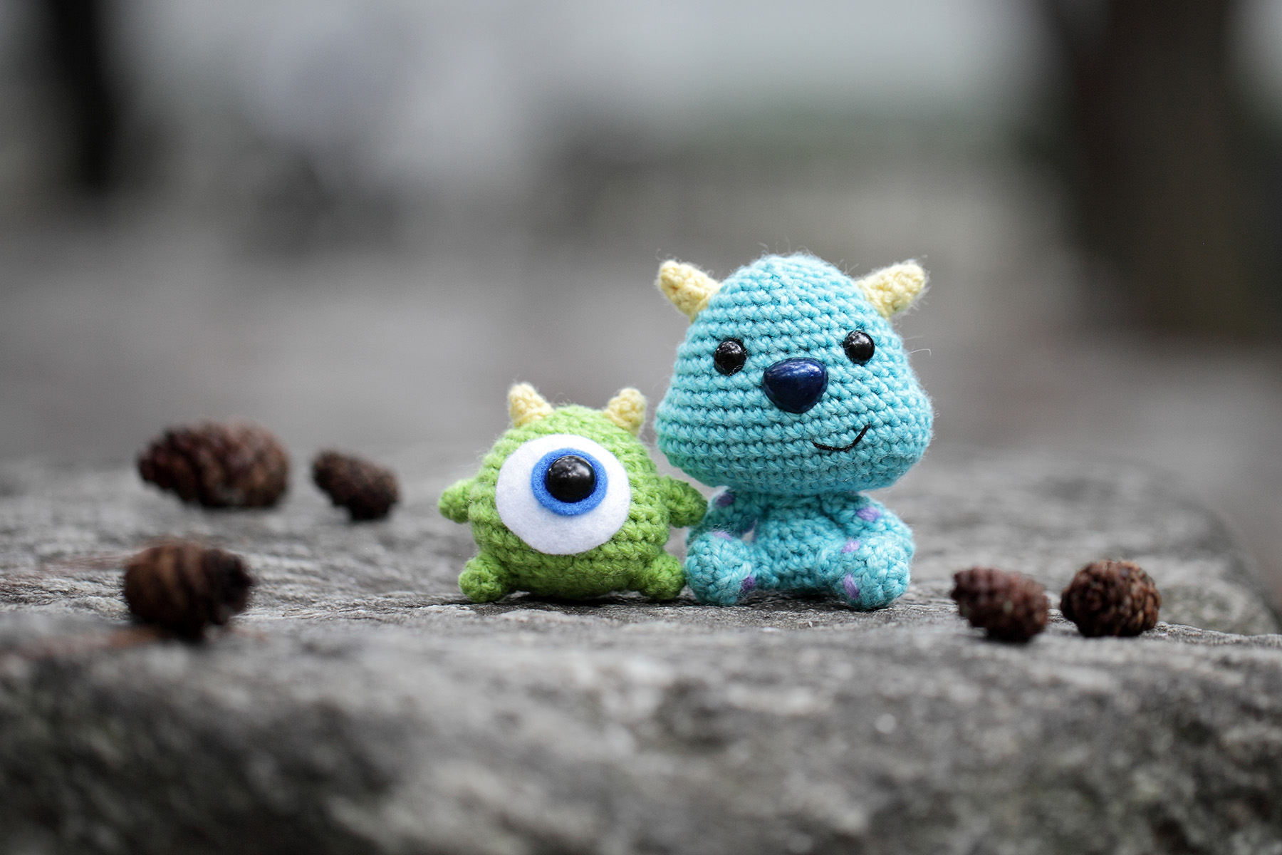 Baby Mike And Sulley From Monsters Inc Amigurumi Fat Face Me